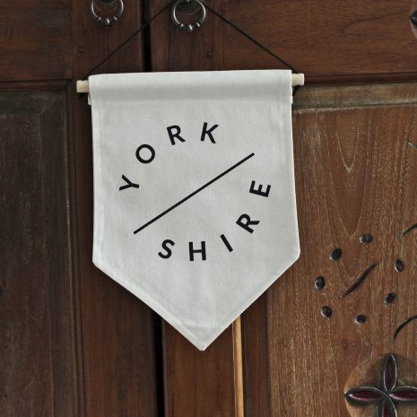 Darwin & Gray Classic Banner - Yorkshire with the word Yorkshire in black